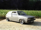 Volkswagen Golf 1 GTI swap vr6 gray audi wheels a deport