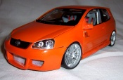 Volkswagen Golf V GTI  orange wheels bbs 19 inches Norev