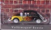 Volkswagen Kafer   noire mit Flammendekor Greenlight