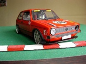 Volkswagen Golf 1 GTI racing moteur v10 wheels bbs