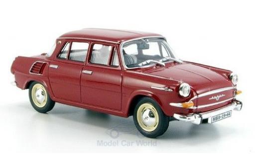 Skoda 1000 1/43 Abrex MB rouge 1964 miniature