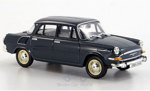 Skoda 1000 1/43 Abrex MB turquoise 1964 miniature