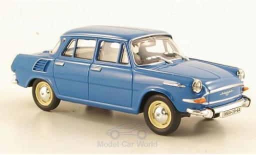 Skoda 1000 1/43 Abrex MB bleue 1964 miniature