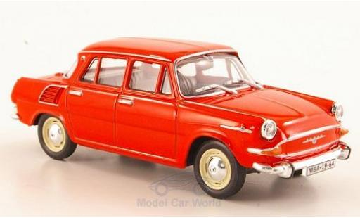 Skoda 1000 1/43 Abrex MB rouge 1964 miniature