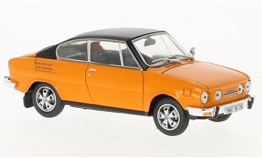 Skoda 110 1/43 Abrex R orange/noire miniature