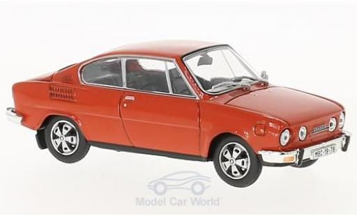 Skoda 110 1/43 Abrex R rouge 1980 miniature