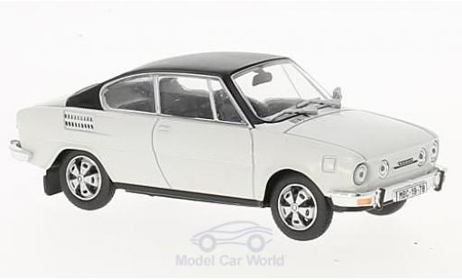 Skoda 110 1/43 Abrex R blanche/noire miniature