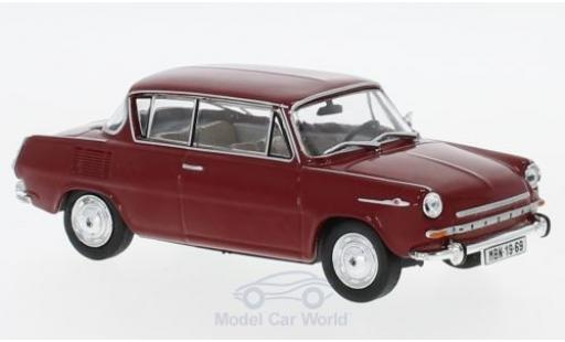Skoda 110 1/43 Abrex 0MBX rouge 1969 miniature