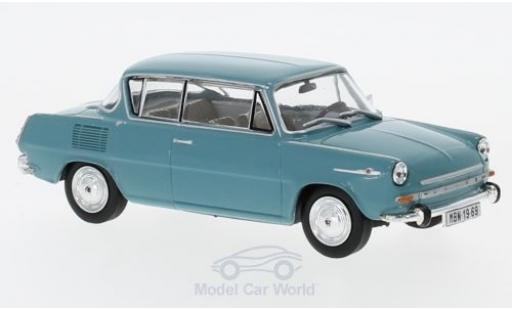 Skoda 110 1/43 Abrex 0MBX turquoise 1969 miniature