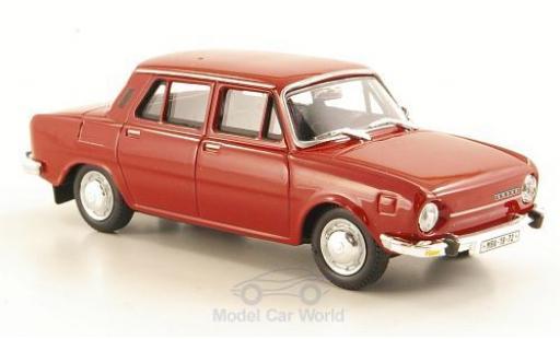 Skoda 110 1/43 Abrex L rouge 1973 ohne Vitrine miniature