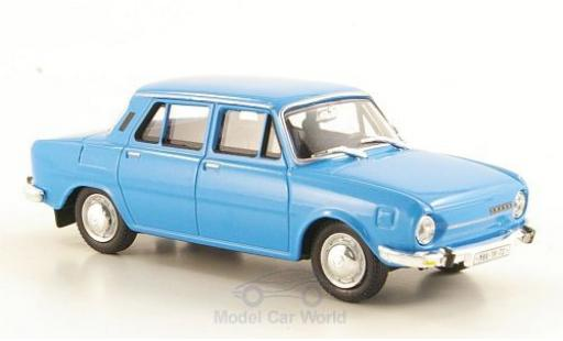 Skoda 110 1/43 Abrex L bleue 1973 miniature