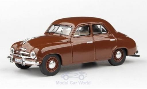 Skoda 120 1/43 Abrex 1 braun 1956 modellautos