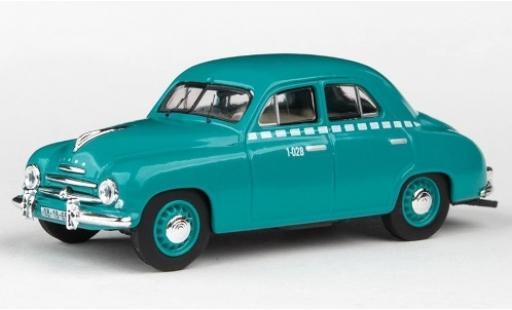 Skoda 120 1/43 Abrex 1 turchese Taxi 1956 modellino in miniatura