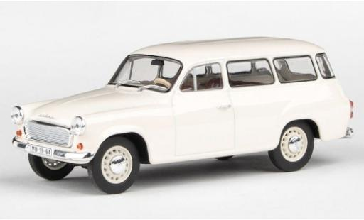 Skoda 120 1/43 Abrex 2 blanche 1964 miniature