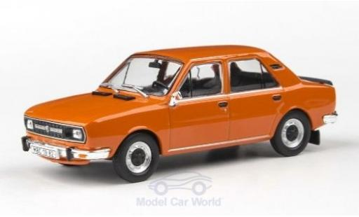 Skoda 120 1/43 Abrex L orange 1982 miniature