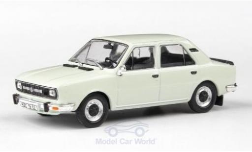 Skoda 120 1/43 Abrex L blanche 1982 miniature