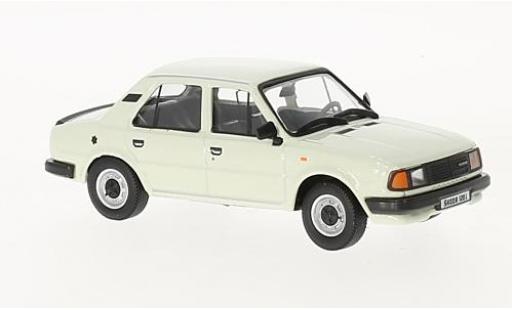 Skoda 120 1/43 Abrex L blanche 1984 miniature