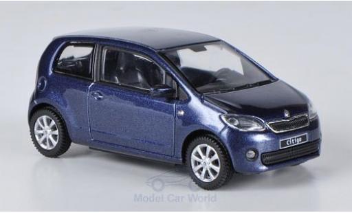 Skoda Citigo 1/43 Abrex metallise bleue 2012 3-Türer miniature