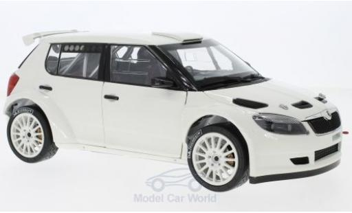 Skoda Fabia 1/18 Abrex II FL S2000 blanche 2010 with Tarmac Wheels miniature