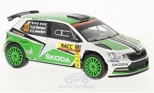 Skoda Fabia 1/43 Abrex III R5 No.33 Rallye WM Rallye Catalunya 2016 P.Tidemand/J.Andersson miniature
