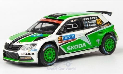 Skoda Fabia 1/43 Abrex III R5 No.40 Rallye WM Rallye Finnland 2015 P.Tidemand/E.Axelsson miniature
