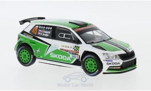 Skoda Fabia 1/43 Abrex III R5 No.45 Rallye WM Rallye Sardinien 2015 J.Kopecky/P.Dresler miniature