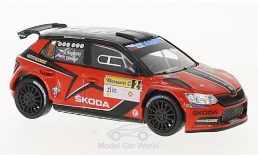 Skoda Fabia 1/43 Abrex III R5 blanche No.2 Barum Rally Zlin 2016 J.Kopecky/P.Dresler miniature
