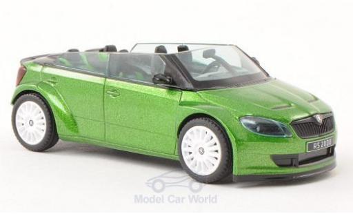 Skoda Fabia 1/43 Abrex RS2000 Concept Car mit blancheen Felgen metallise verte miniature