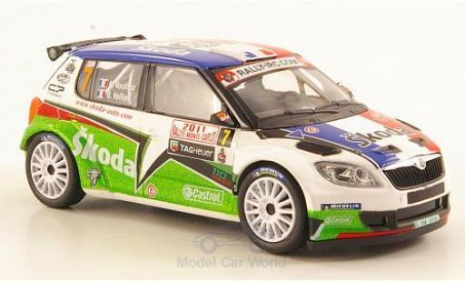 Skoda Fabia 1/43 Abrex S2000 No.7 Rallye Monte-Carlo 2011 Vouilloz miniature