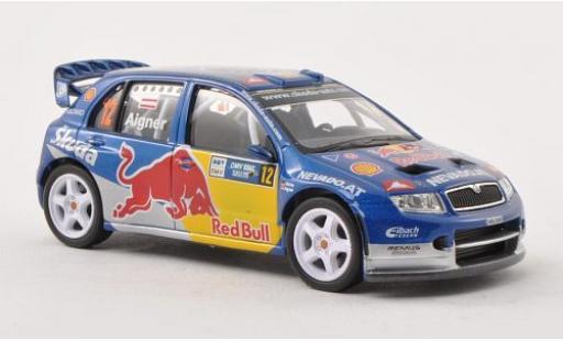 Skoda Fabia 1/43 Abrex WRC Evo II No.12 Red Bull Rallye Deutschland 2006 miniature