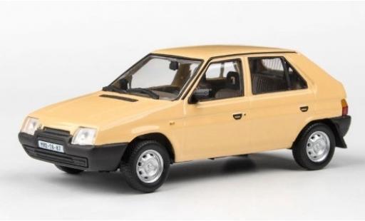 Skoda Favorit 1/43 Abrex 136L beige RHD 1988 miniature