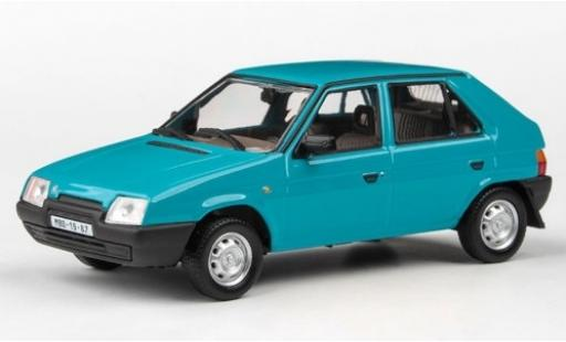 Skoda Favorit 1/43 Abrex 136L bleue 1988 miniature