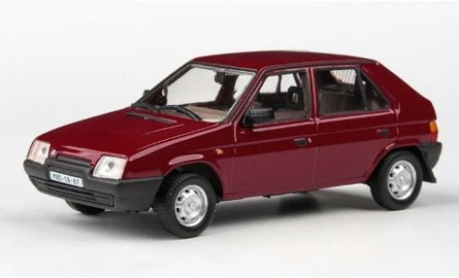 Skoda Favorit 1/43 Abrex 136L rouge 1988 miniature