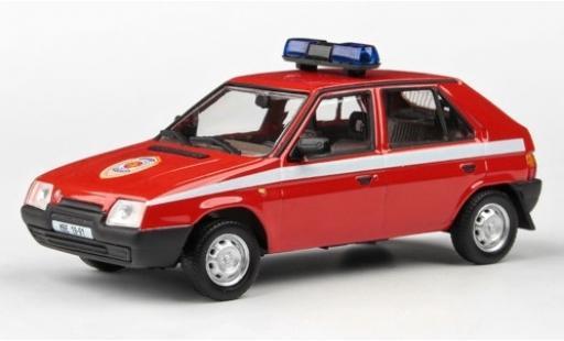 Skoda Favorit 1/43 Abrex 136L Hasici (CZ) 1988 pompiers miniature