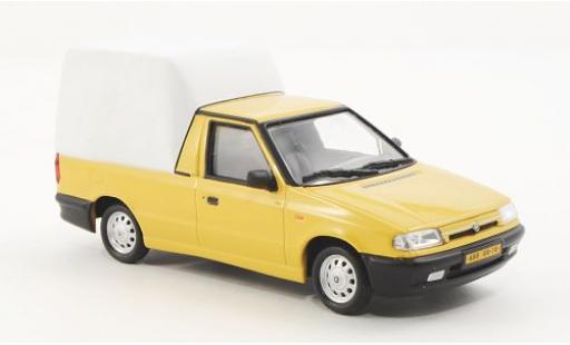 Skoda Felicia 1/43 Abrex Pick-Up jaune/matt-blanche 1996 miniature