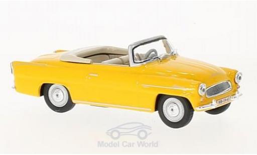 Skoda Felicia 1/43 Abrex Roadster jaune 1963 miniature