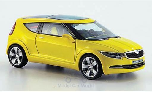 Skoda Joyster 1/43 Abrex Concept Car métallisé jaune ohne Vitrine miniature