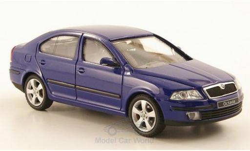 Skoda Octavia 1/43 Abrex bleue 2004 miniature