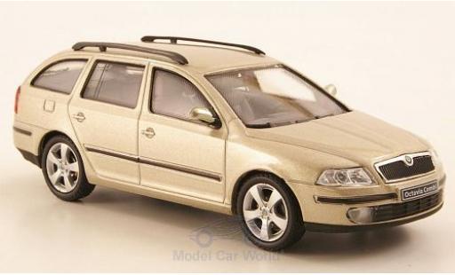 Skoda Octavia 1/43 Abrex Combi metallise beige 2004 miniature