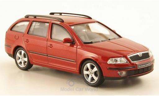 Skoda Octavia 1/43 Abrex Combi metallise rouge 2004 miniature