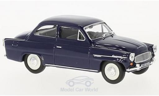 Skoda Octavia 1/43 Abrex dunkelbleue 1963 miniature