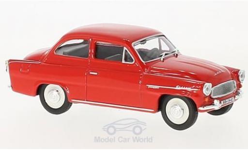 Skoda Octavia 1/43 Abrex rouge 1963 miniature