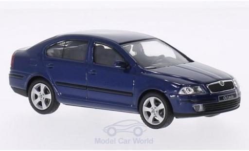 Skoda Octavia 1/43 Abrex métallisé bleue 2004 miniature