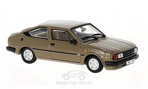 Skoda Rapid 1/43 Abrex 136 marron 1987 miniature