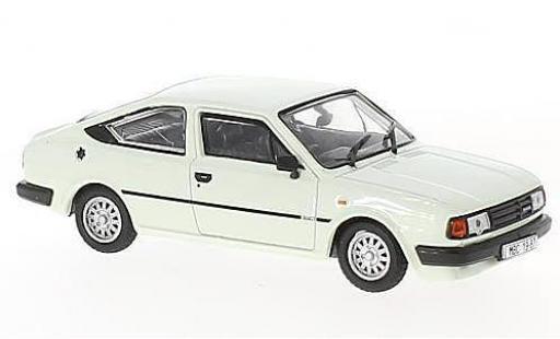 Skoda Rapid 1/43 Abrex 136 blanche RHD 1987 miniature