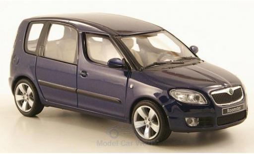 Skoda Roomster 1/43 Abrex metallise bleue 2006 miniature