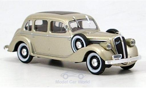 Skoda Superb 1/43 Abrex 913 métallisé beige 1938 miniature