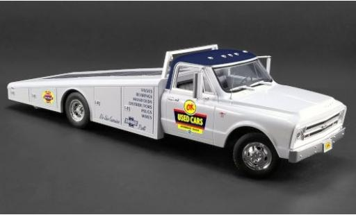 Chevrolet C-30 1/18 ACME Ramp Truck bianco/Dekor OK - Used Cars 1967 dépanneuse modellino in miniatura