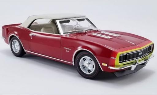 Chevrolet Camaro 1/18 ACME SS Convertible Unicorn D88 Stripe Option metallise rouge/Dekor 1968 avec détachable Softtop miniature