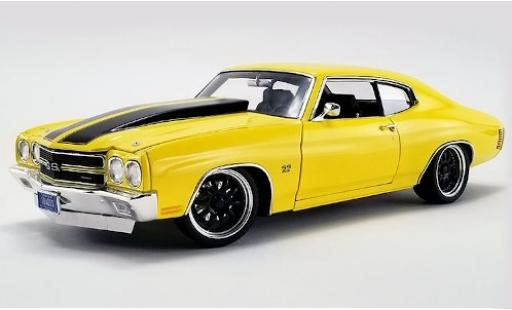 Chevrolet Chevelle 1/18 ACME yellow/black 1970 Street Fighter diecast model cars